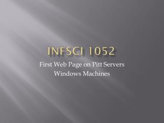 INFSCI 1052