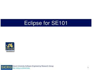 Eclipse for SE101