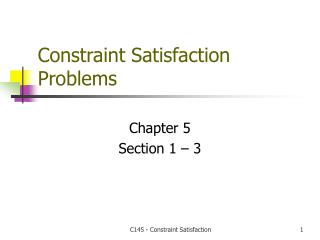 Constraint Satisfaction Problems