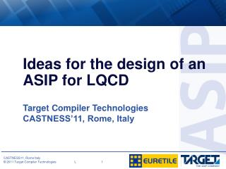 Ideas for the design of an ASIP for LQCD