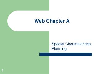 Web Chapter A