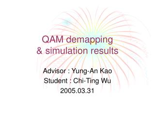 QAM demapping  & simulation results