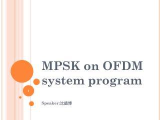 MPSK on OFDM system program