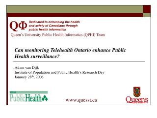 Queen's University Public Health Informatics (QPHI) Team