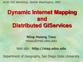 Dynamic Internet Mapping and  Distributed GIServices