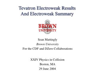 Tevatron Electroweak Results And Electroweak Summary