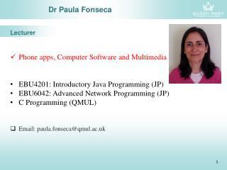 Dr Paula Fonseca