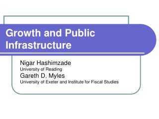 Growth and Public Infrastructure