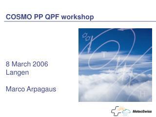 COSMO PP QPF workshop
