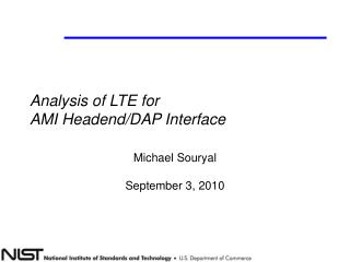 Analysis of LTE for  AMI Headend/DAP Interface