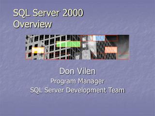 SQL Server 2000 Overview