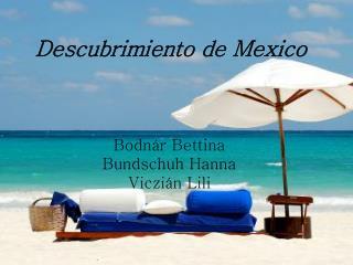 Descubrimiento de Mexico