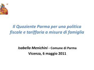 Il Quoziente Parma per una politica fiscale e tariffaria a misura di famiglia