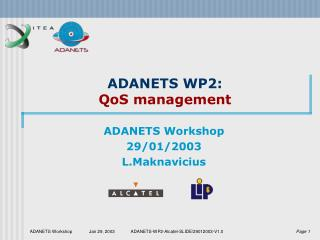ADANETS WP2: QoS management