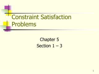 Constraint Satisfaction Problems