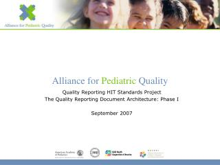 Quality Reporting HIT Standards Project The Quality Reporting Document Architecture: Phase I