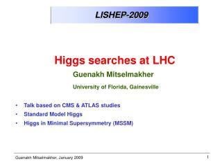 LISHEP-2009