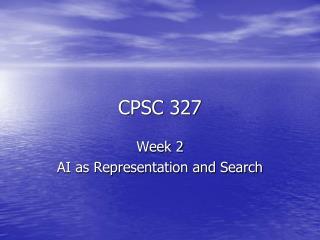 CPSC 327