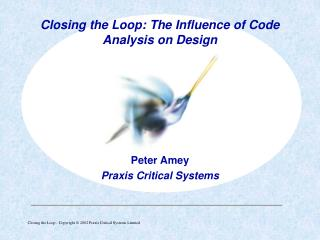 Peter Amey Praxis Critical Systems