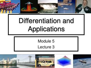 Differentiation and Applications