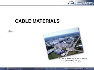 CABLE MATERIALS