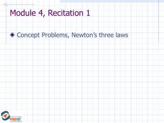 Module 4, Recitation 1