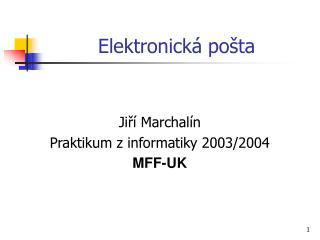 Elektronick� po�ta