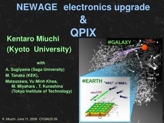 NEWAGE electronics upgrade & QPIX