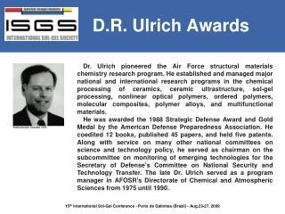 D.R. Ulrich Awards