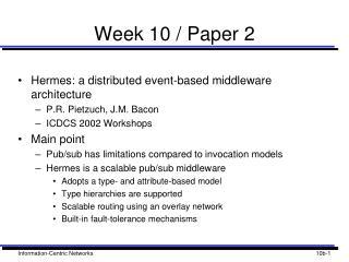 Week 10 / Paper 2
