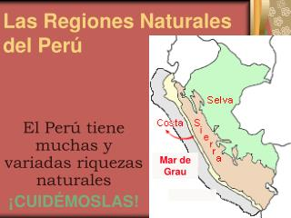 Las Regiones Naturales del Perú