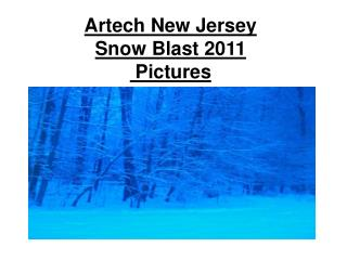 Artech New Jersey Snow Blast 2011  Pictures