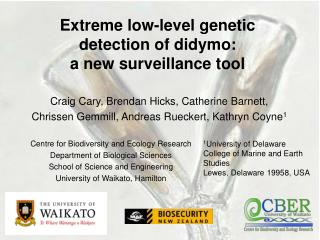 Extreme low-level genetic detection of didymo:  a new surveillance tool
