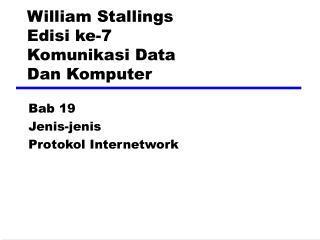 William Stallings Edisi ke-7 Komunikasi Data Dan Komputer