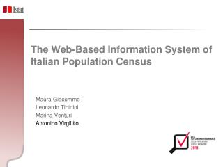 The Web-Based Information System of Italian Population Census