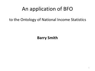 An application of BFO