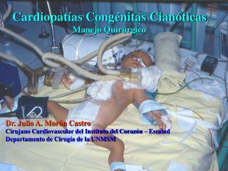 Cardiopatías Congénitas Cianóticas Manejo Quirúrgico