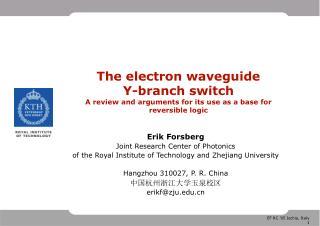 Erik Forsberg Joint Research Center of Photonics