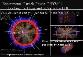 First LHC collisions at 4.0 TeV per beam 5 th  April 2012