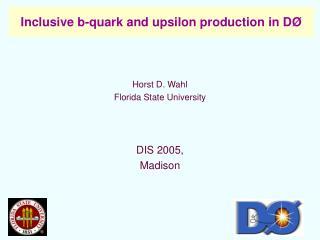 Inclusive b-quark and upsilon production in D Ø