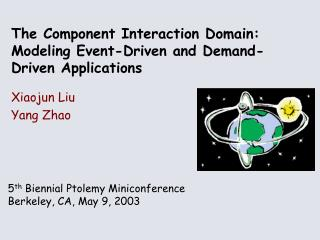 The Component Interaction Domain: Modeling Event-Driven and Demand-Driven Applications