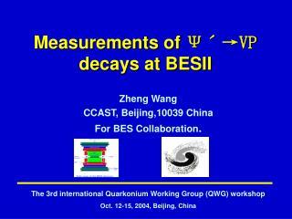 Measurements  of  ??? VP decays at BESII