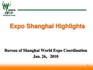 Expo Shanghai Highlights