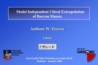 Anthony W. Thomas CSSM