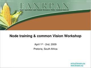 Node training  common Vision Workshop