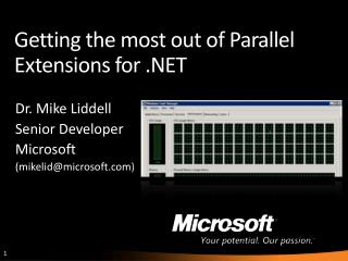 Getting the most out of Parallel Extensions for