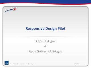 Responsive Design Pilot