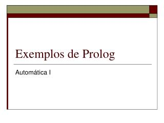 Exemplos de Prolog