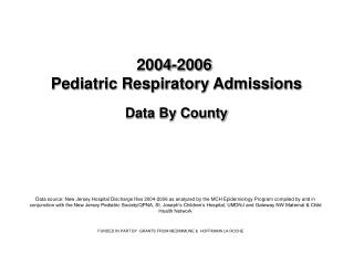 2004-2006  Pediatric Respiratory Admissions Data By County
