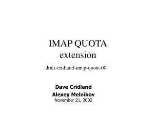 IMAP QUOTA extension